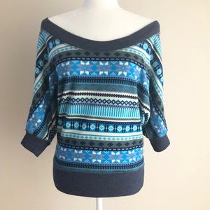 POOF! Women Blue Pullover Sweater